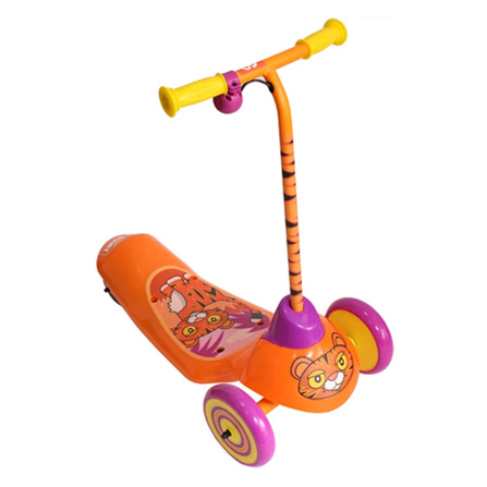 电动三轮滑板车(橙色老虎)【价格