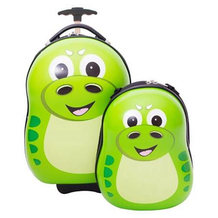儿童可爱动物母子旅行箱包套装 绿