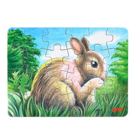 拼图纸盒24片兔子 16.5*12cm