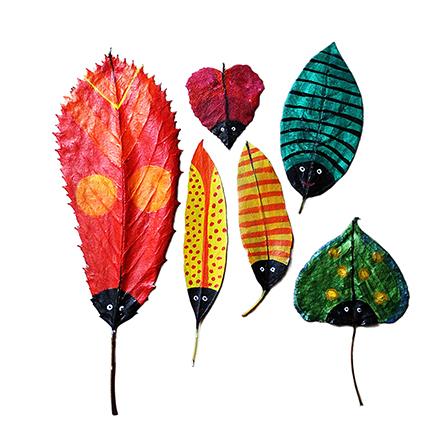 创意绘画-树叶彩绘