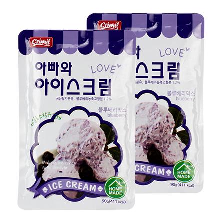 韩国进口自制冰淇淋粉 蓝莓味(90g*2)