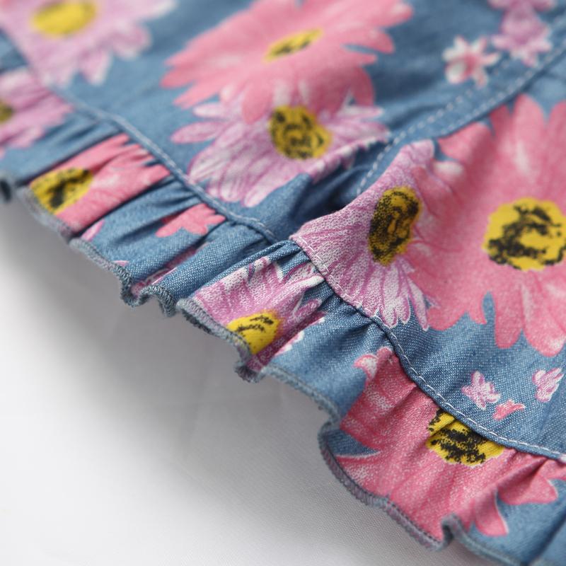 女童短裤花边印花儿童沙滩裤