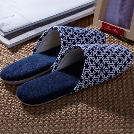 舒适防滑菱形包头软底拖鞋(男)