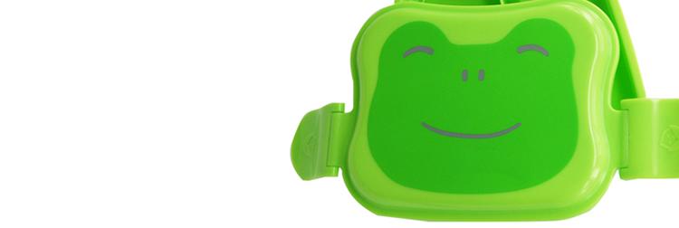 卡通饭盒 绿色青蛙