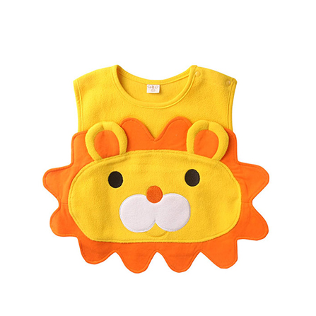 春秋款宝宝动物造型小马甲 黄狮子