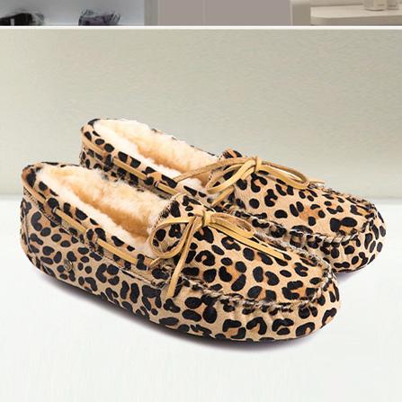 动物纹豆豆鞋 豹纹