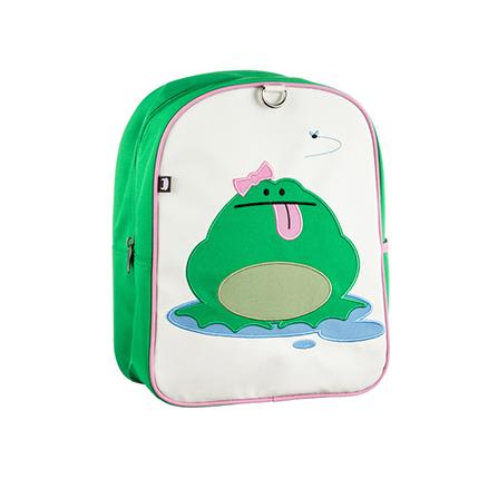 时尚儿童书包幼儿园背包户外旅游 青蛙 绿