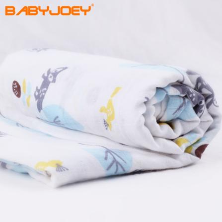 宝宝浴巾正方形 狐狸花纹