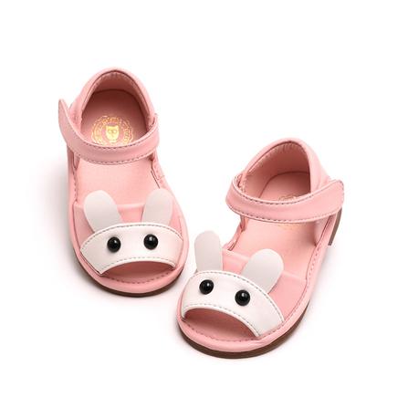 韩国原创童鞋 春夏季可爱宝宝凉鞋 白 粉红