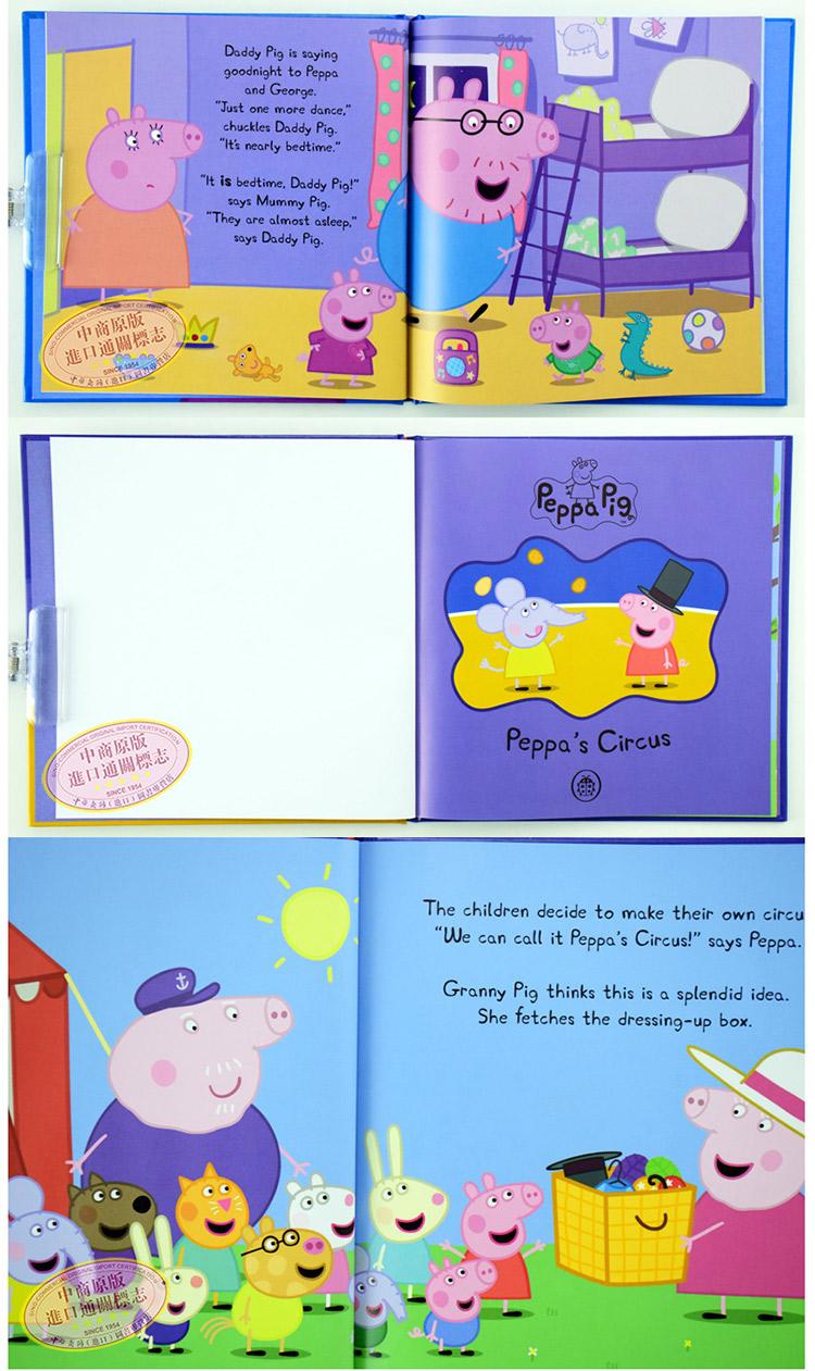 粉红猪小妹小猪佩奇5本套装英文原版peppa pig动画片