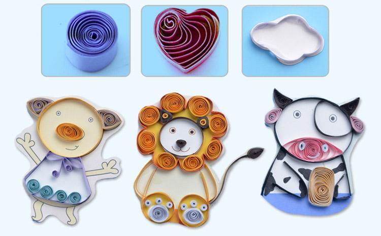 儿童diy美术手工艺卷纸魔术画益智玩具