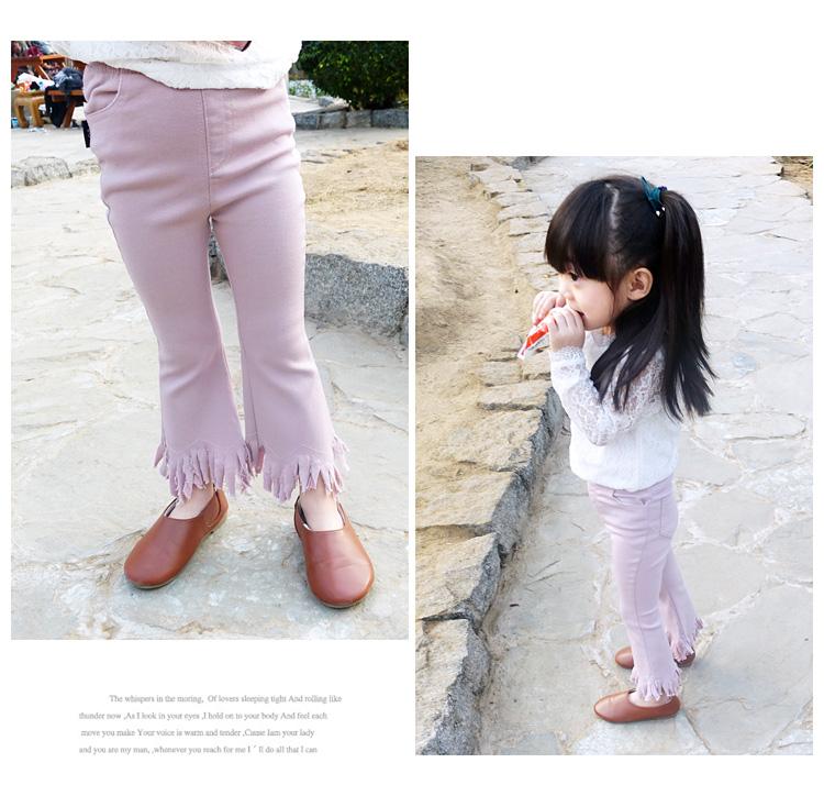 女童裤子2017春季儿童长裤宝宝春装喇叭裤