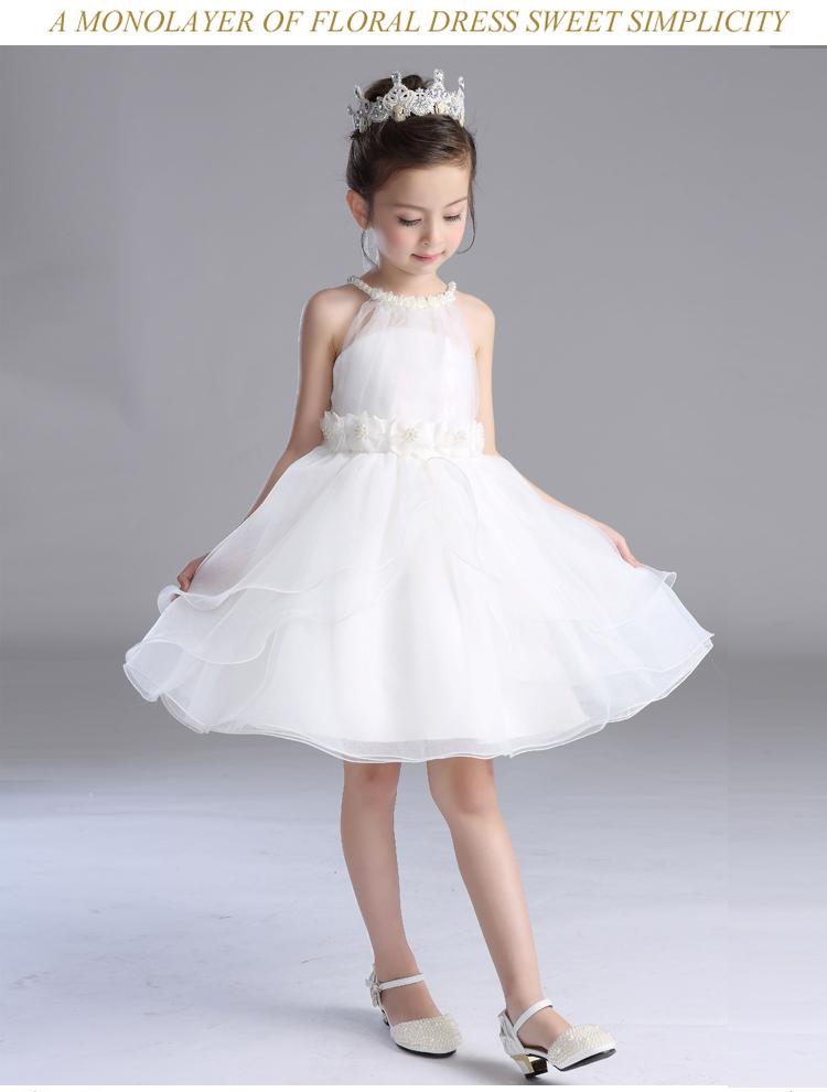 儿童婚纱蓬蓬花童礼服裙