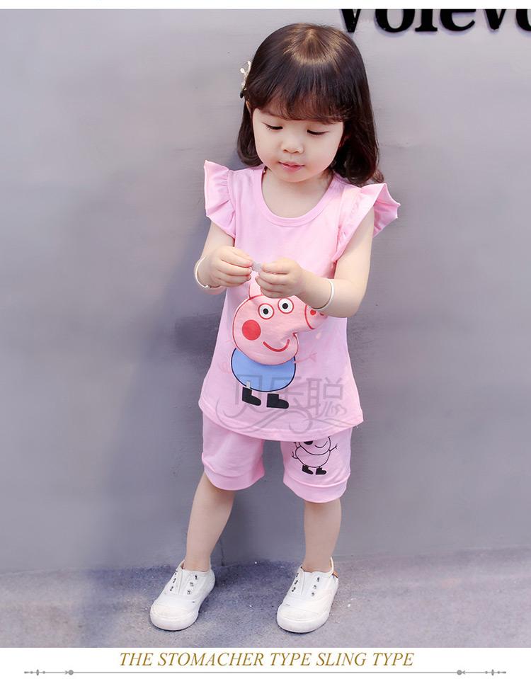童装女童夏装套装新品儿童运动休闲男女宝宝小孩衣服