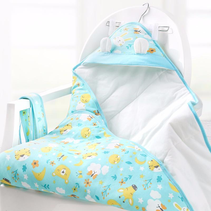 新生儿秋冬季抱被婴儿夹棉保暖包被宝宝被子襁褓包巾厚款