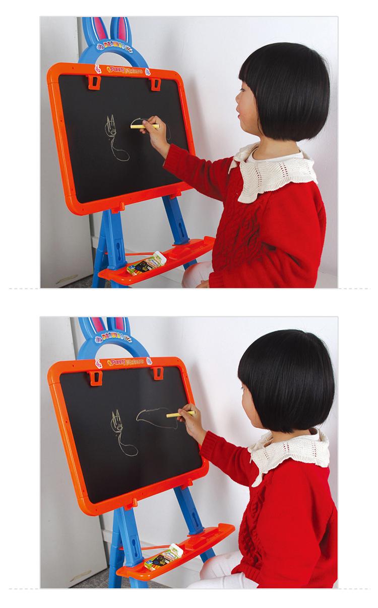 儿童画板画架双面磁性写字板玩具宝宝彩色涂鸦支架式小黑板