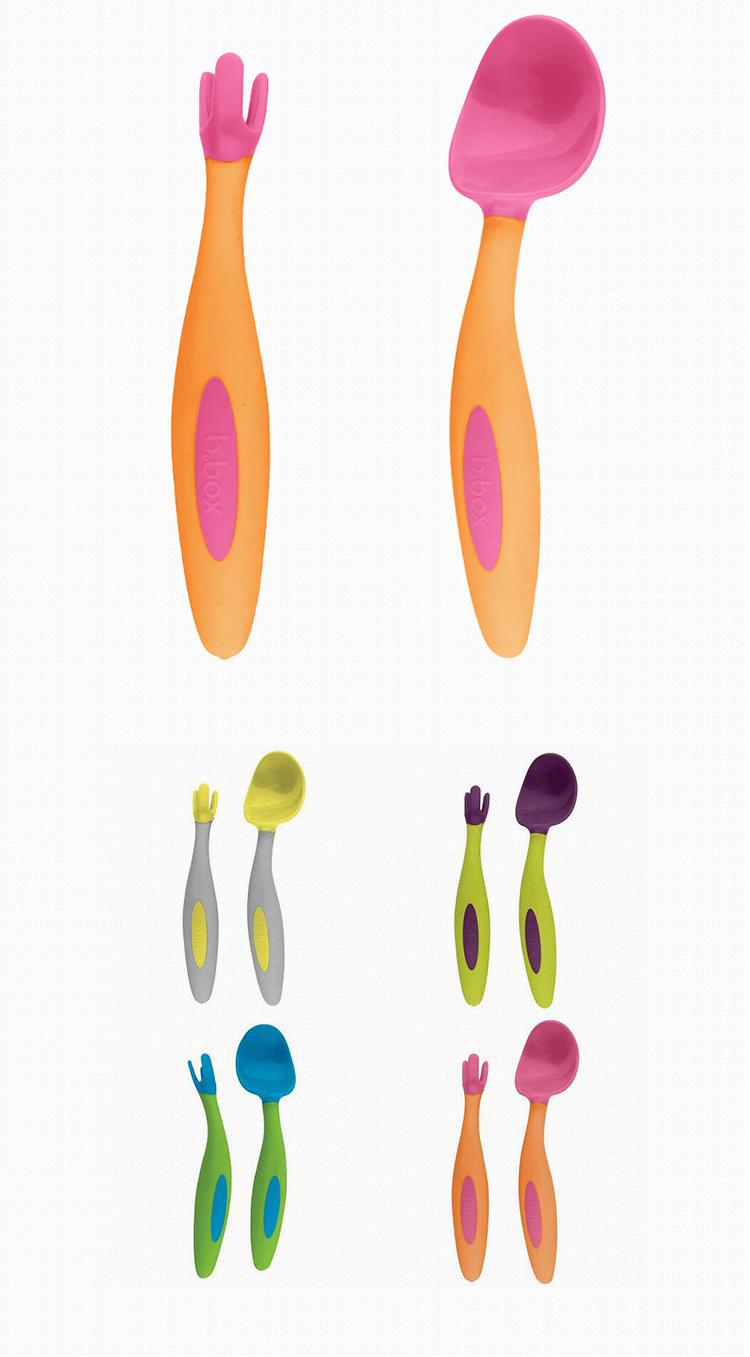 宝宝餐具分隔餐盘 便携训练叉子勺子套装