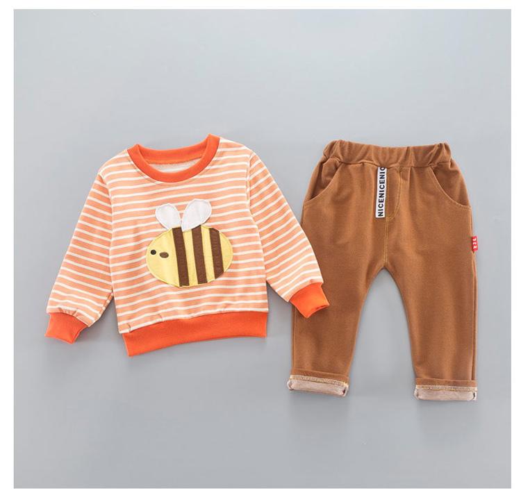 宝宝新款春秋装韩版圆领条纹蜜蜂两件套a-30 品牌:真加乐 分类:卫衣