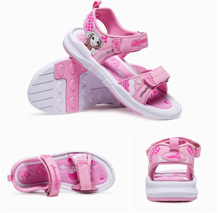 童鞋 女童凉鞋2018新款夏季韩版儿童鞋子公主鞋女孩沙滩鞋