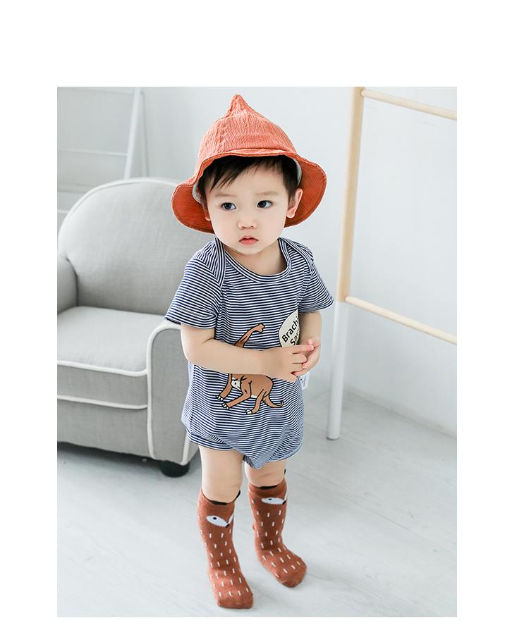 婴儿连体衣夏季儿童衣服哈衣0-2岁男宝宝童装衣服女宝宝可爱凉爽