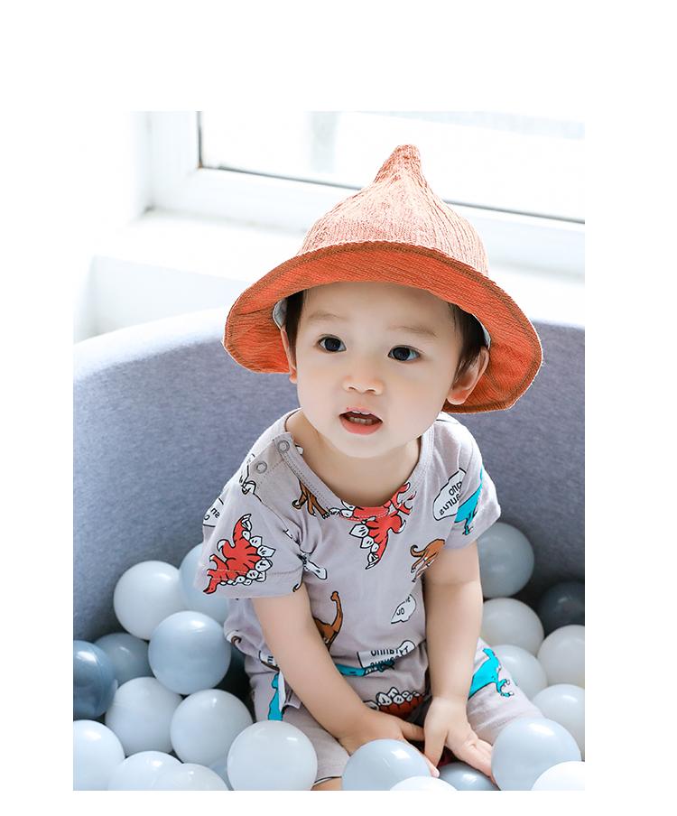 夏季宝宝可爱恐龙连体衣0-2岁潮流时尚纯棉连体衣哈衣