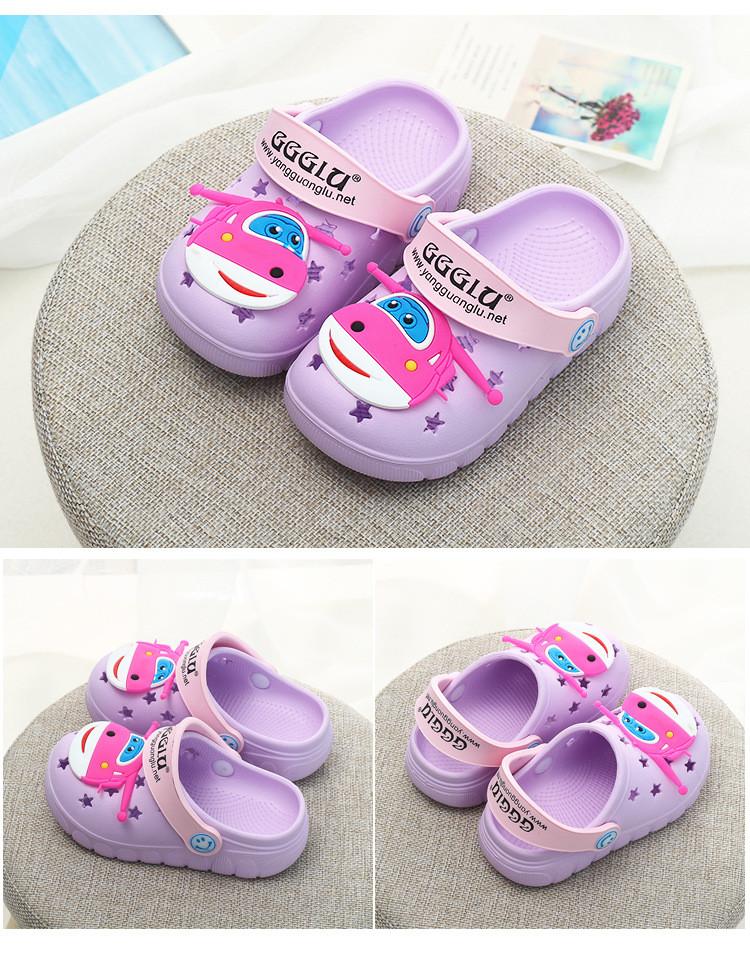 新款夏季小猪佩奇儿童凉拖鞋可爱男童女宝宝洞洞鞋卡通沙滩鞋