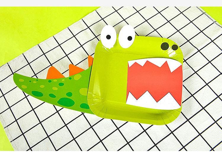 纸盘子画儿童手工diy制作材料包幼儿园纸杯贴纸益智玩具