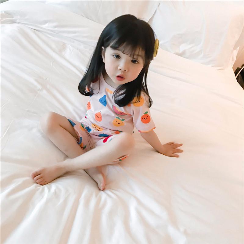 女童2018夏装新款韩版卡通可爱女宝宝套装1-2岁3婴幼儿孩子家居服