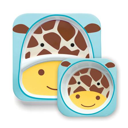 可爱动物园餐具套装(长颈鹿)