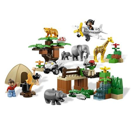 lego 乐高 得宝系列 动物园全家福l6156(适用年龄2岁)