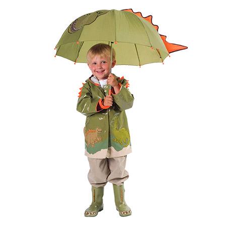 > kidorable 可爱多 卡通恐龙系列 雨衣(军绿色)