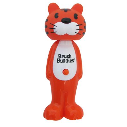可伸缩动物儿童趣味训练牙刷-老虎款