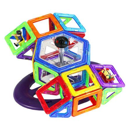儿童益智玩具智力建构片摩天轮磁性积木(46片)