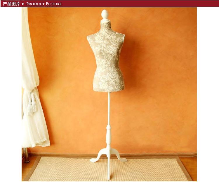 欧式优雅木制模特试衣架装饰品 米