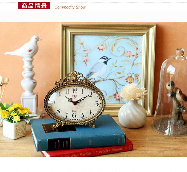 欧式古典精致镂空雕花座钟