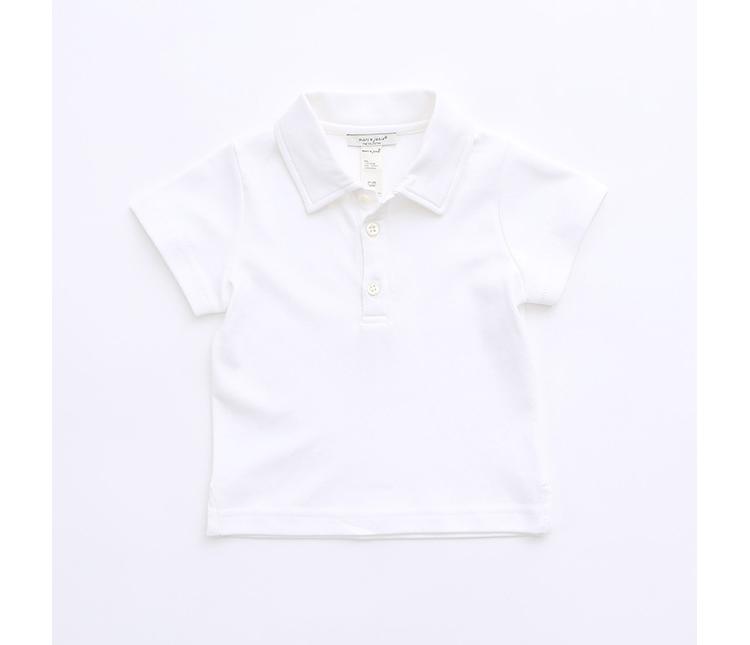 儿童polo衫 婴儿宝宝短袖t恤 725 白