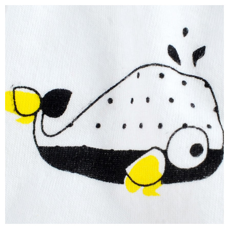 angell 鲸鱼宝宝印花内裤(2条装) 白底印花 白底黑点
