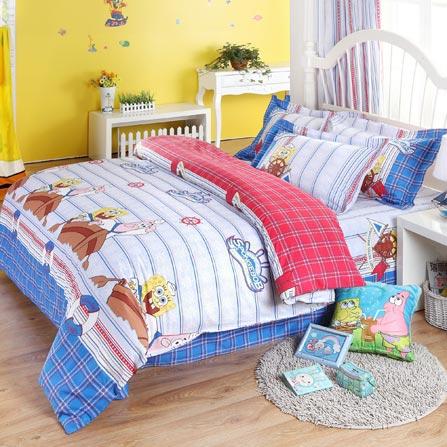 博洋宝贝海绵宝宝儿童床上用品可爱卡通三件套1