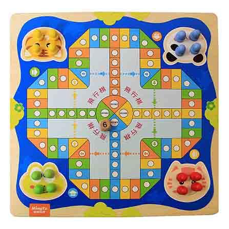 亲子互动棋盘早教益智玩具 飞行棋蛇棋