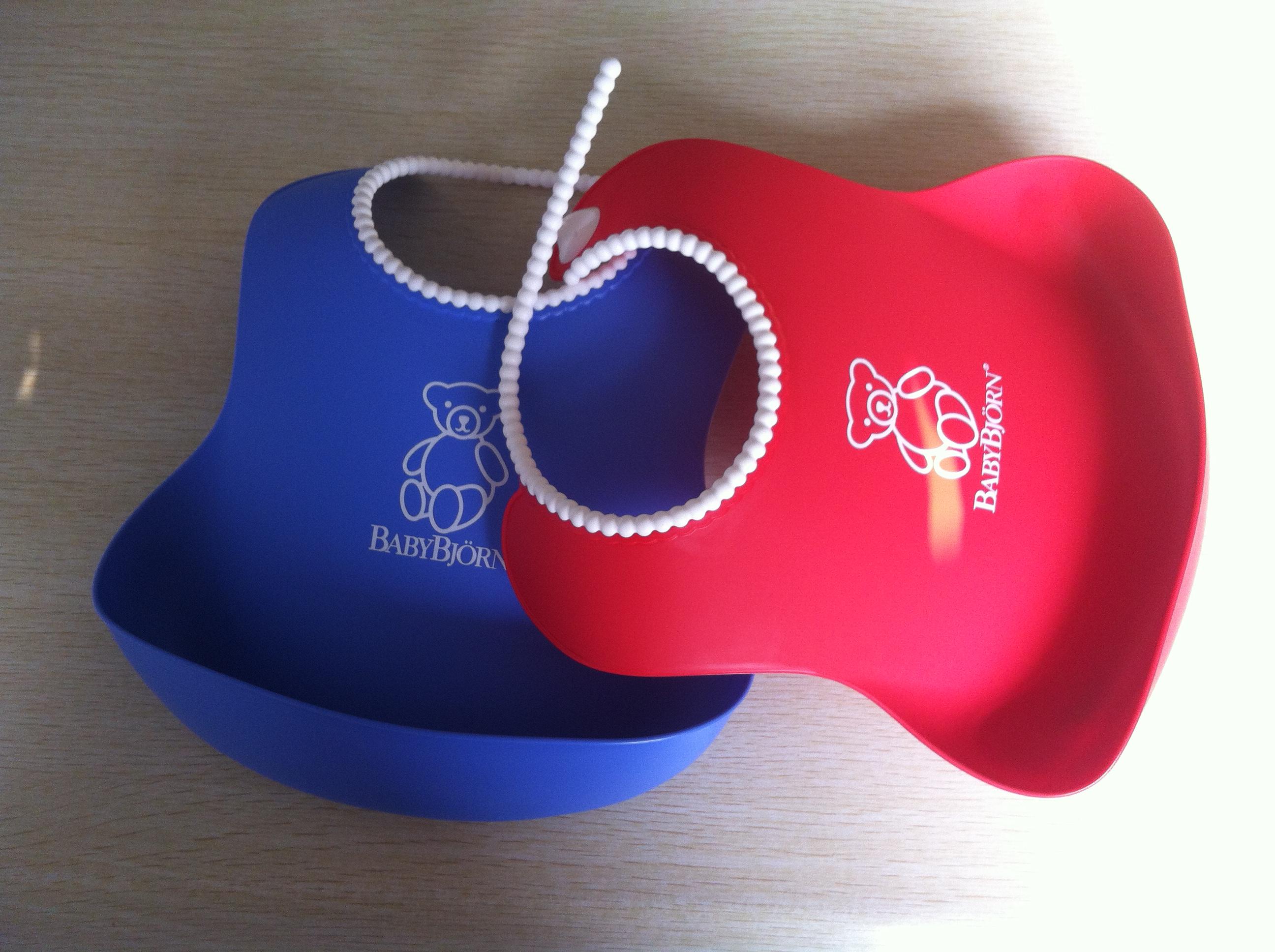 婴儿防水硅胶防碎屑围兜/围嘴(红色 蓝色)